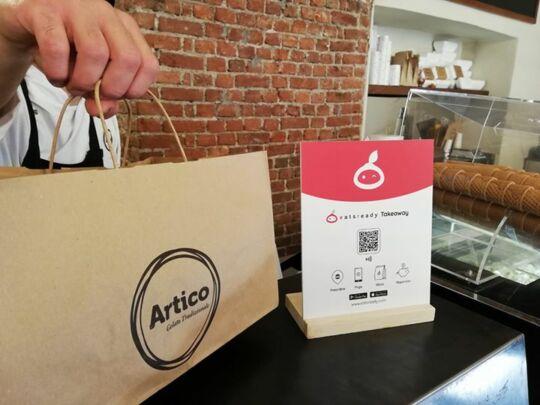 Sacchetto take away personalizzato Artico...